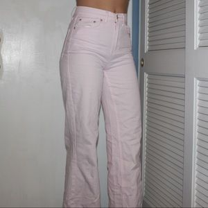 Pink boot cut jeans